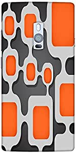 Snoogg Digital Tube Designer Protective Back Case Cover For One Plus Two