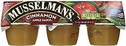 Musselmans Cinnamon Apple Sauce, 4 Ounce - 18 per pack -- 1 each.