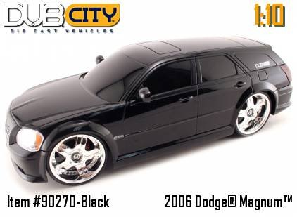 Buy Jada Dub City Radio Remote Control Black 2006 Dodge Magnum 1:10 Scale RC Car