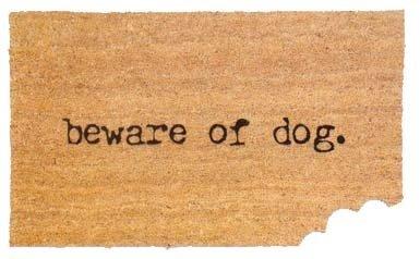 Funny Doormats Beware Of Dog Doormat