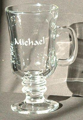 Personalized Glass Irish Coffee Cups 8 Oz.