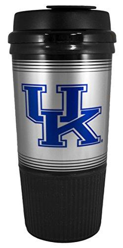 GameDay Novelty NCAA Kentucky Wildcats Insulated Platinum Gripper Travel Tumbler with No Spill Flip Lid, 16 oz