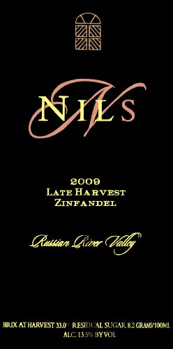 2009 Saddleback Cellars Nils Late Harvest Zinfandel 500Ml