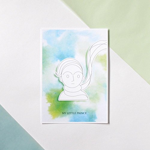 DIY painted Christmas Postard- My Little Prince Series- My Little Prince
