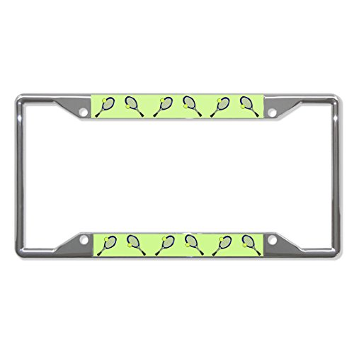 Cruiser Accessories 23353 Chrome Live Tennis License Plate Frame with Fastener Caps