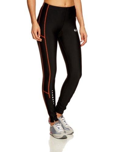 Ultrasport Pantaloni Jogging per Donna con Funzione Quick Dry, Lunghi, Nero/Arancione, XS
