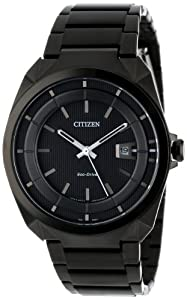 Citizen Men's AW1018-55E Eco-Drive Black Stainless Steel Sport Watch