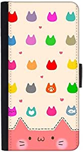 Snoogg Cute Kitty Iconsdesigner Protective Flip Case Cover For Htc One X