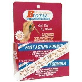 B-Total Sublingual Liquid Energy Bonus Pack 2 Ounces Liquid Energy