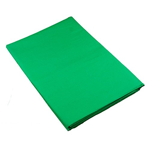 PhotoSEL BK11CG Chroma Key Green Screen Muslin Photography Backdrop 2m x 3m