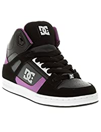 Dc Black-Purple Rebound Kids Hi Top Shoe (Kids Us 7 , Black)