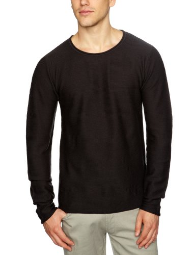 Selected Homme Jeans Sun Crew-Neck Men's Jumper Brown Black Small