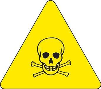 60183 Presión etiquetas de vinilo sensible de advertencia, Negro en