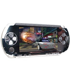 PSP Replacement Faceplate + Buttons (Silver)