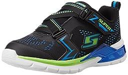 Skechers Kids Erupters II Light Up Sneaker (Toddler), Black/Blue/Lime, 9 M US Toddler