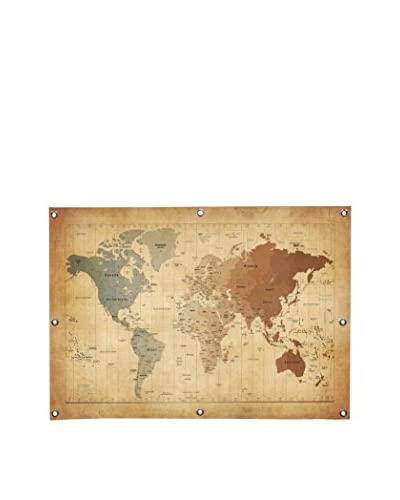 Map of the World III by Michael Tompsett Canvas Print