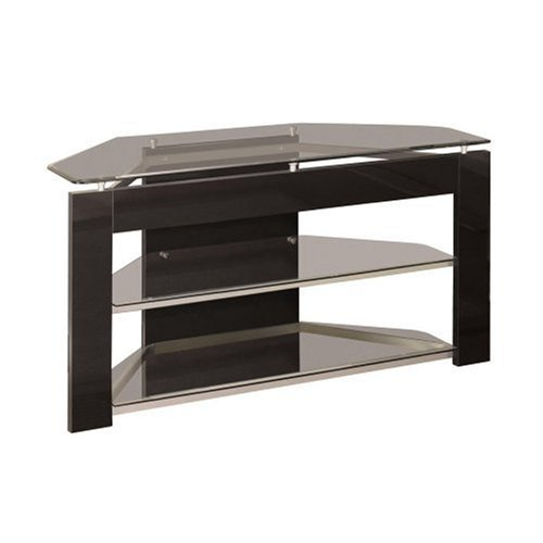 Black Friday Powell Glossy Silver TV Stand Sale