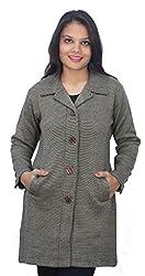 Romano Brown Winter Wool Coat Sweater for Women