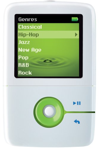 Creative Zen V 2 GB Portable Media Player (White/Green)