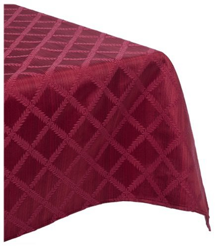 Lenox Laurel Leaf 70-By-86-Inch Oblong / Rectangle Tablecloth, Cranberry