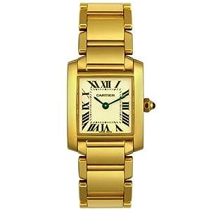 Cartier Women's W50002N2 Tank Francaise 18K Yellow Gold Watch