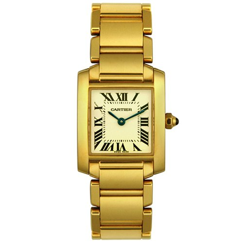 Cartier Women's W50002N2 Tank Francaise 18K Yellow Gold Watch
