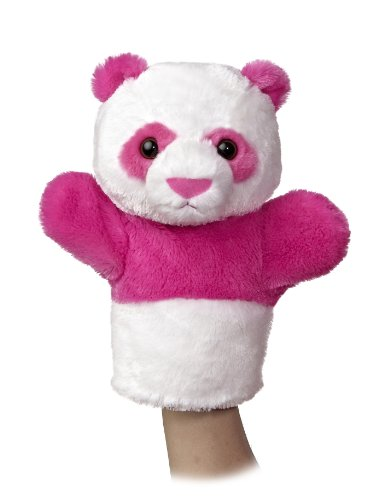 "Aurora World Sleeve Panda Plush Puppet, 10"" Tall"