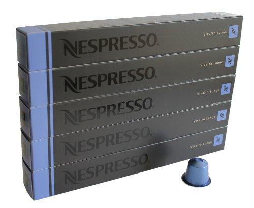 Nespresso Capsules blue - 50x Vivalto Lungo - Original Nestlé - Lungo Coffee