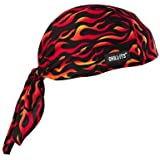 Ergodyne Chill-Its 6615 High-Performance Dew Rag, Flames