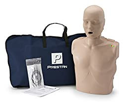 PRESTAN PP-AM-100-MS Professional Adult CPR-AED Training Manikin, Medium Skin Tone