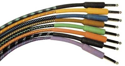 CBI Braided Guitar Instrument Cable 3 Foot (Black)