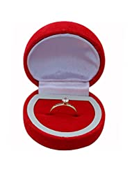 Memoir Gold Plated Valentines Solitaire CZ Diamond Look Alike Free Size Adjustable Solitaire Ring For Gift