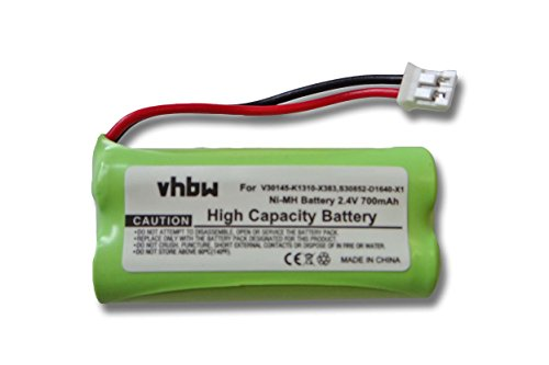 vhbw Ni-MH Akku 700mAh (2.4V) passend für SIEMENS Gigaset A12, A14, A16, A24, A26, A345, AL14, AL14H, AS15