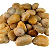 Polished River Stone, River Rocks - Amber (2 lbs bag) - 12 bags