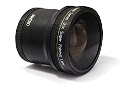PLR Studio Series .21x Super Fisheye Lens With Macro Attachment For The Nikon Digital SLR Cameras Which Have Any Of These (18-55mm 55-200mm 50mm) Nikon Lenses