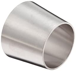 DixonB31W-R250200P Stainless Steel 316L Polished Fitting, Weld Concentric Reducer, 2-1/2\