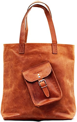 Sacchetto di acquisto colore naturale Vintage-Ledertasche Handtasche PAUL MARIUS, Vintage & Retro