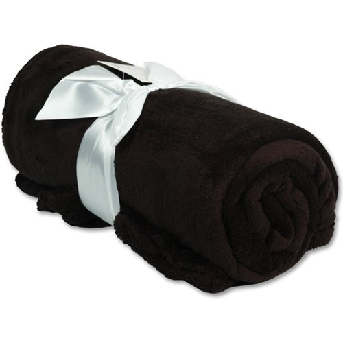 Big Save! Super Soft Plush Fleece Blankets - By Threadart - Black - 9 colors available