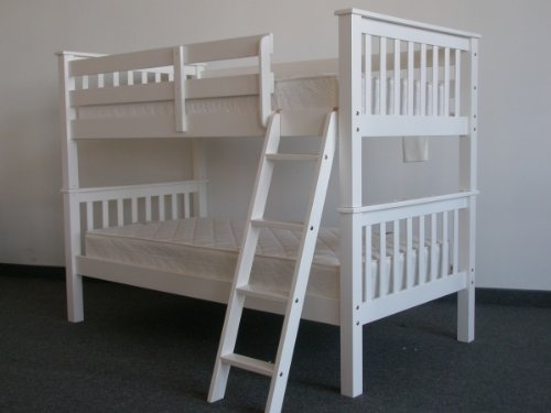 Bunk Bed Twin over Twin Mission style in White