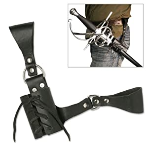 Leather Medieval Sword Frog Belt Hanger Rapier Renaissance