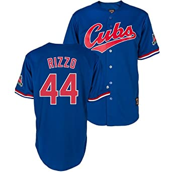 Chicago Cubs Anthony Rizzo Blue Cooperstown Replica Throwback Jersey by Majestic