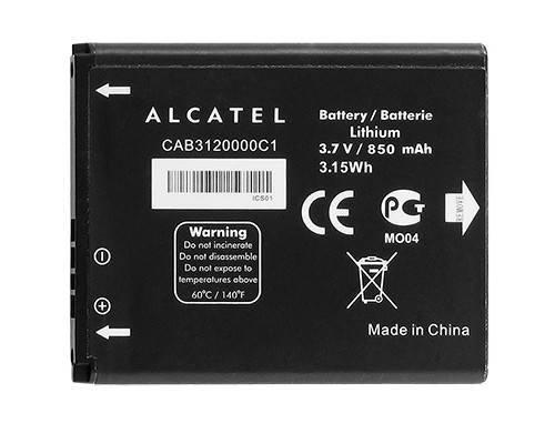 Alcatel CAB3120000C1 - Batteria originale, interscambiabile con CAB3120000C3, compatibile con Alcatel Miss Sixty / Alcatel One Touch 602 / 602D / OT-602 Alcatel One Touch 710 / OT-710 Alcatel One Touch 806 / OT-3020 / OT-3020D / OT-806 Alcatel One Touch 880 / 880A / OT-880 / OT880A SFR 3440 Vodafone 354 / VF354 / OT-810 / OT-810D / OT-2005 / OT-2005D / OT-815 / OT-815D