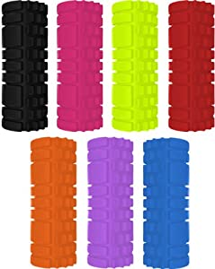Foam Yoga roller the grid beast roller for massage workout and fitness Pilates All Colours (Black)