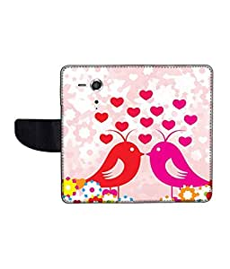 KolorEdge Printed Flip Cover For Sony Xperia SP Multicolor - (45KeMLogo11583XperiaSP)