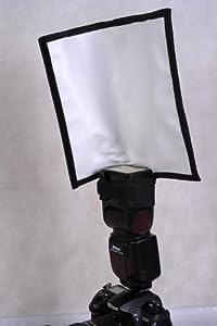 Kaavie - Softbox -multifonction Réflecteur pliable / Snoot réflexion flash Softbox - Diffuseur de Flash Boîte à Lumière Universel d'Opteka pour flash