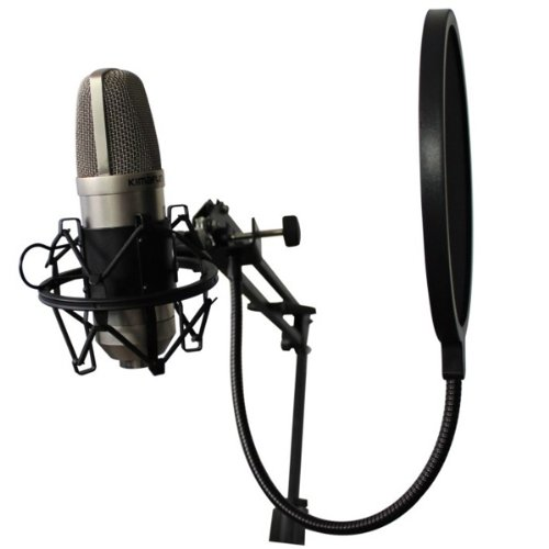 Foxnovo-Studio-Record-Double-layer-Microphone-Wind-Screen-Pop-Filter-Mask-Shield-with-Flexible-Holder-USB-Studio-Condenser-Recording-Microphone