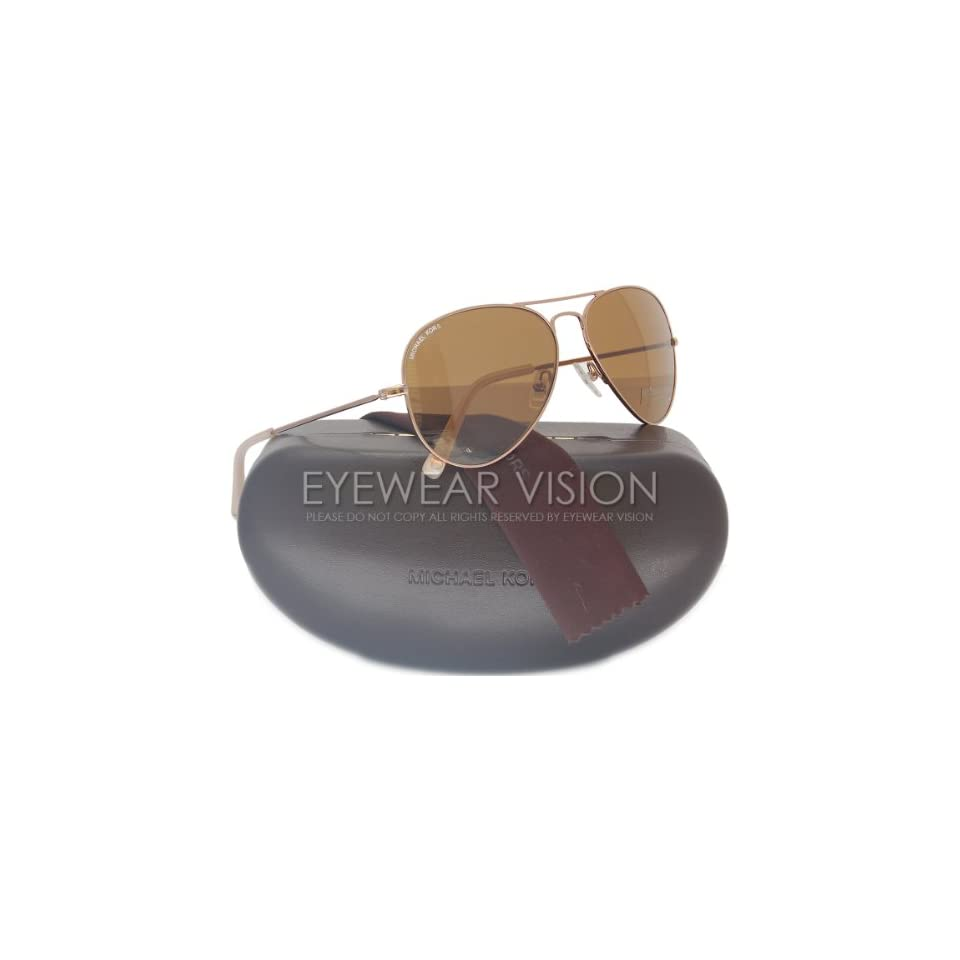 2fc41cbcec Michael Kors M2047S Jet Set Aviator Sunglasses Rose Gold (780) MK 2047 58mm  Clothing