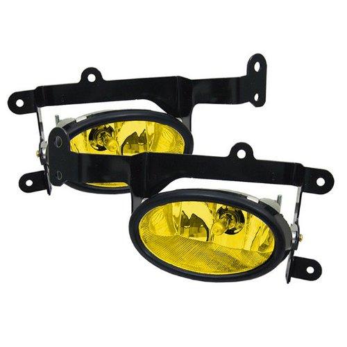 Yellow Fits 2006-2008 Honda Civic 2Dr Bumper Fog Light Lamp w//Switch+Harness