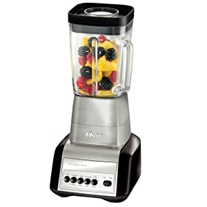 Oster BLSTCF-BCC Designer Series 6-Cup Glass Jar 7-Speed Blender, Black with Brushed Nickel Accents at Sears.com