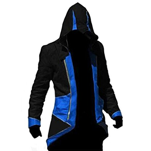 Ainiel Unisex Anime Cosplay Custome Windbreaker Cool Long Sleeve Costume Jacket(Adult-size M, Blue and Black) (Cool Cosplay compare prices)